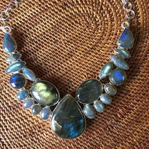 MWOT Labradorite .925 Silver Necklace